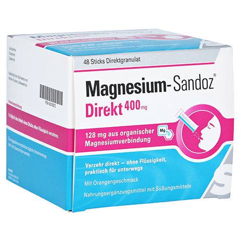 MAGNESIUM SANDOZ Direkt 400 mg Sticks 48 Stück