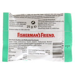 FISHERMANS FRIEND mint Pastillen 25 Gramm - Rückseite