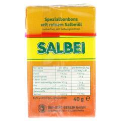 SALBEI HALS und Hustenbonbons o.Zucker 40 Gramm - Rückseite