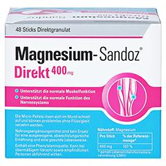 MAGNESIUM SANDOZ Direkt 400 mg Sticks 48 Stück - Rückseite