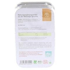 SPIRULINA 500 mg Bio Naturland Tabletten 80 Stück - Rückseite