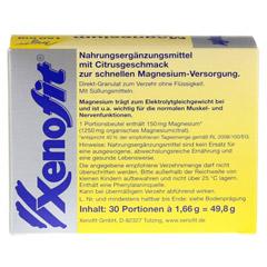 XENOFIT Magnesium direct Stixx Granulat 30x1.66 Gramm - Rückseite