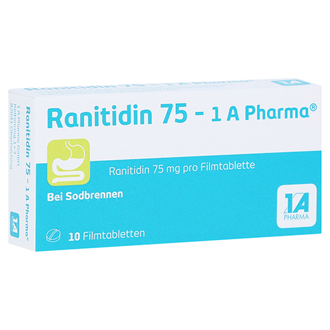Ranitidin 75-1A Pharma 10 Stück