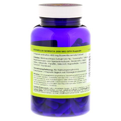 BOSWELLIA SERRATA 200 mg GPH Kapseln 120 Stück - Rückseite