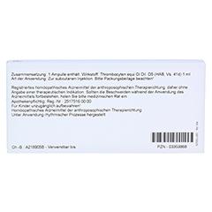 THROMBOCYTEN GL D 5 Ampullen 10x1 Milliliter N1 - Rückseite