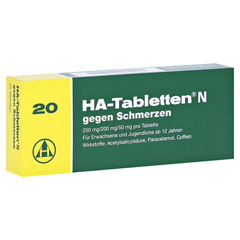 HA-Tabletten N gegen Schmerzen 20 Stück N2