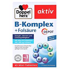 Doppelherz aktiv B-Komplex + Folsäure Depot 45 Stück - Vorderseite