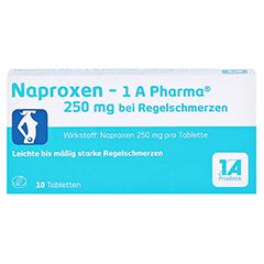 Naproxen-1A Pharma 250mg bei Regelschmerzen 10 Stück - Vorderseite