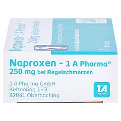 Naproxen-1A Pharma 250mg bei Regelschmerzen 10 Stück - Linke Seite