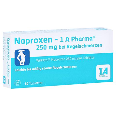 Naproxen-1A Pharma 250mg bei Regelschmerzen 10 Stück