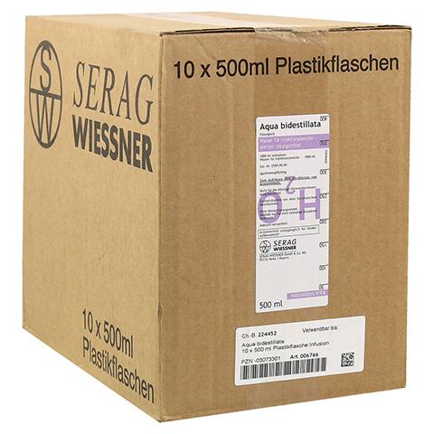 AQUA BIDEST Plastik 10x500 Milliliter N2