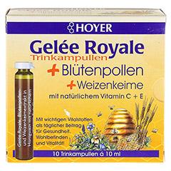 HOYER Gelee Royale+Blütenpollen+Weizenk.Trinkamp. 10x10 Milliliter - Vorderseite