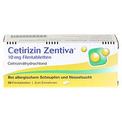 Cetirizin Zentiva 10mg 50 Stück N2 - Vorderseite