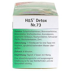 H&S Detox Vitaltee Filterbeutel 20 Stück - Linke Seite