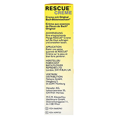 BACH ORIGINAL Rescue Creme 50 Milliliter - Linke Seite