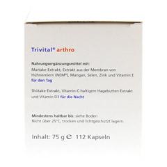 TRIVITAL arthro Kapseln 112 Stück - Unterseite