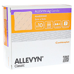 ALLEVYN Ag Gentle 5x5 cm Wundverband 10 Stück