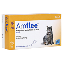 AMFLEE 50 mg Spot-on Lösung z.Auftropfen f.Katzen 3 Stück
