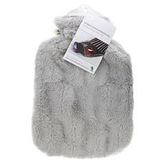 Flauschbezug-Wärmflasche grau 1 Stück