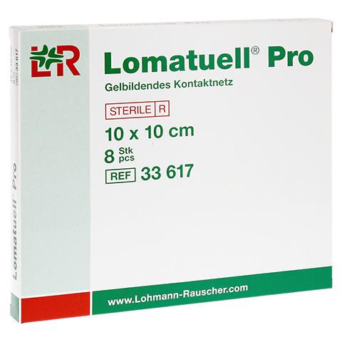 LOMATUELL Pro 10x10 cm steril 8 Stück