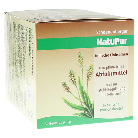 NatuPur Indische Flohsamen Abführmittel & bei Reizdarm 50x5 Gramm