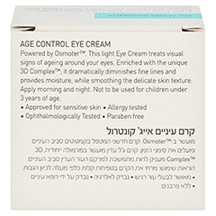 Ahava Age Control Eye Cream 15 Milliliter - Rückseite
