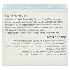 Ahava Night Replenisher normale/trockene Haut 50 Milliliter - Rückseite