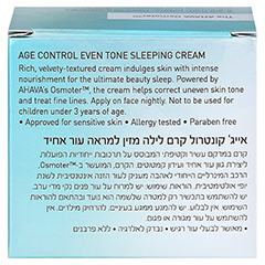 Ahava Age Control Even Tone Sleeping Cream 50 Milliliter - Rückseite