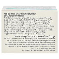 Ahava Age Control Even Tone Moisturizer Broad Spectrum SPF 20 50 Milliliter - Rückseite