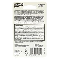 CARMEX Lippenbalsam f.trockene spröde Lippen 7.5 Gramm - Rückseite
