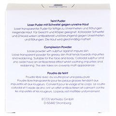 SULFODERM S Teint Puder 20 Gramm - Rückseite