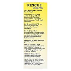 BACH ORIGINAL Rescue Creme 50 Milliliter - Rückseite