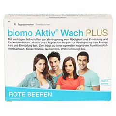 BIOMO Aktiv Wach Plus Trinkflaschen 4 Stück - Vorderseite