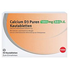 Calcium D3 PUREN 1000mg/880I.E. 90 Stück - Vorderseite