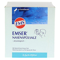 EMSER Nasenspülsalz physiologisch Btl. 50 Stück - Vorderseite
