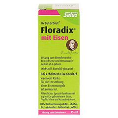 Floradix mit Eisen 15 Milliliter - Vorderseite