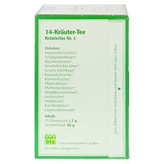 14-KRÄUTER-Tee Kräutertee Nr.1 Salus Filterbeutel 15 Stück - Linke Seite