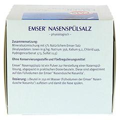 EMSER Nasenspülsalz physiologisch Btl. 50 Stück - Rechte Seite