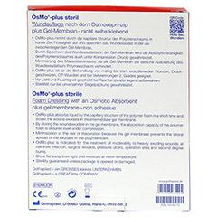 OSMO PLUS Wundauflage 10x12 cm steril 10 Stück - Rückseite