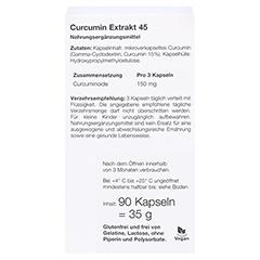 CURCUMIN Extrakt 45 Dr. Wolz Kapseln 90 Stück - Rückseite