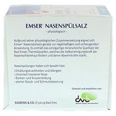 Emser Nasenspülsalz physiologisch 50 Stück - Rückseite