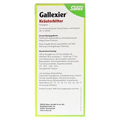 Gallexier Kräuterbitter Salus 250 Milliliter - Rückseite