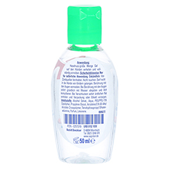 SAGROTAN Handhygiene-Gel 50 Milliliter - Rückseite