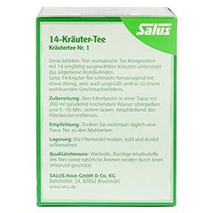 14-KRÄUTER-Tee Kräutertee Nr.1 Salus Filterbeutel 15 Stück - Rückseite