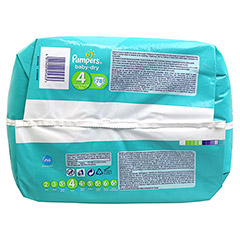 PAMPERS Baby Dry Gr.4 maxi 7-18kg Jumbo plus Pack 78 Stück - Unterseite