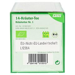 14-KRÄUTER-Tee Kräutertee Nr.1 Salus Filterbeutel 15 Stück - Unterseite