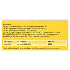 DEKRISTOLVIT D3 4.000 I.E. Tabletten 30 Stück - Rückseite