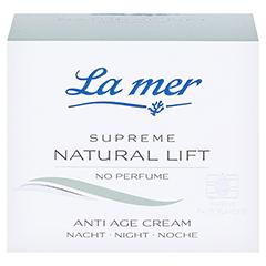 LA MER SUPREME Natural Lift Anti Age Cream Nacht ohne Parfüm 50 Milliliter - Vorderseite