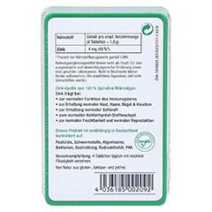 SPIRUZINK Zink Spirulina Tabletten 100 Stück - Rückseite