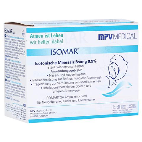 ISOMAR isotonische Meersalzlösung 0,9% Ampullen 24x5 Milliliter